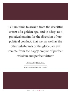 Is it not time to awake from the deceitful 