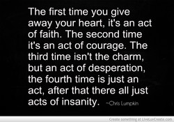The first time you give 