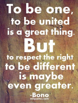 To be one, 