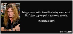 Being a cover artist is not like being a real artist. 