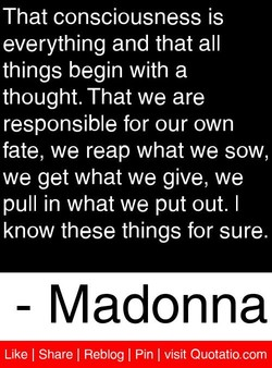 That consciousness is 