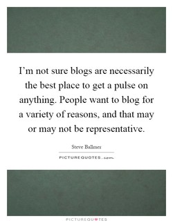 I'm not sure blogs are necessarily 
