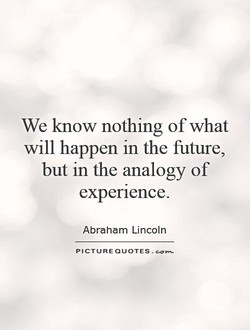 We know nothing of what 