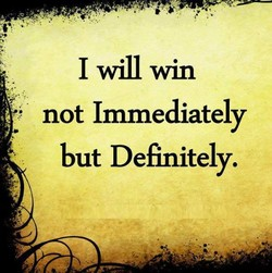 I will win 