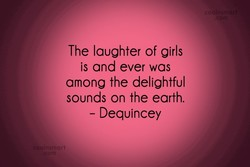 The laughter of girls 