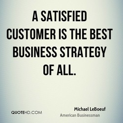 A SATISFIED 