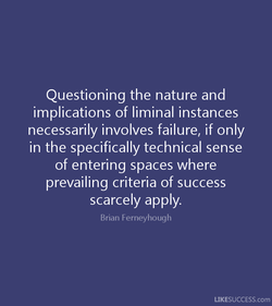 Questioning the nature and 