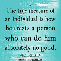 The true measure of 