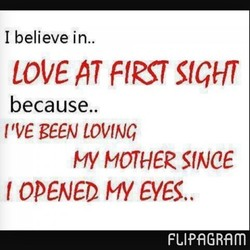 I believe in.. 