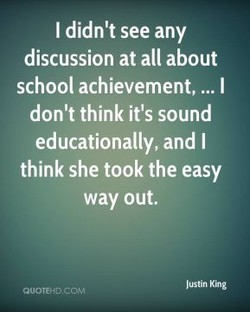 I didn't see any 