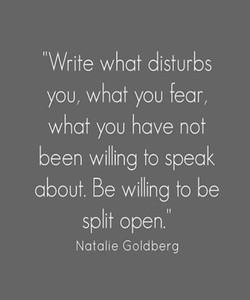 Write what disturbs 