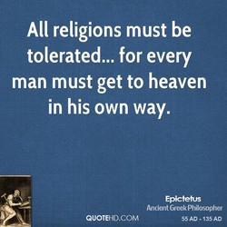 All religions must be 