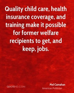 Quality child care, health 