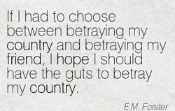 If I had to choose 