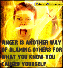 ANGER IS WAY F 'LAMING, OTHERS FOR HAT YOU*NOW YOU ED YOURSELF.