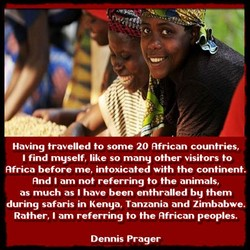 Having travelled to some 20 African countries/ 