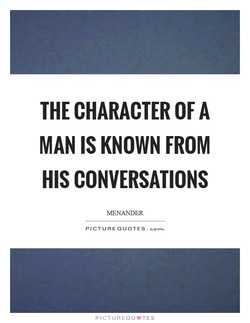 THE CHARACTER OF A 