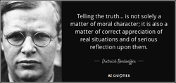 Telling the truth... is not solely a 