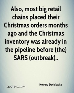 Also, most big retail 