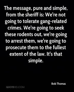 The message, pure and simple, 