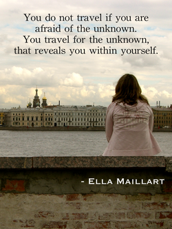 You do not travel if you are 