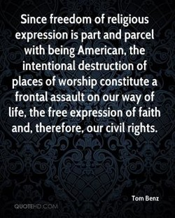 Since freedom of religious 