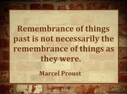 Remembrance of things 