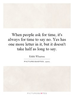 When people ask for time, it's 