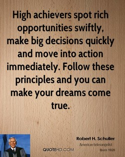High achievers spot rich 