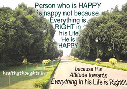 Person who is HAPPY 