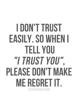 I DON'T TRUST 