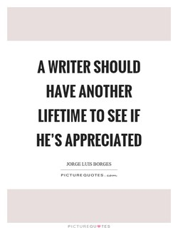 A WRITER SHOULD 