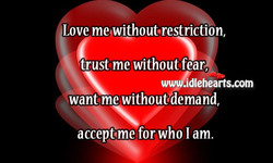 Love me without.restriction, 