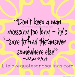 keep a man 