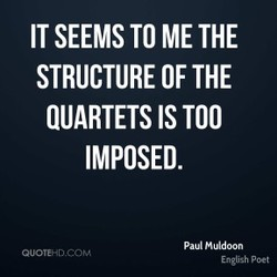 IT SEEMS TO ME THE 