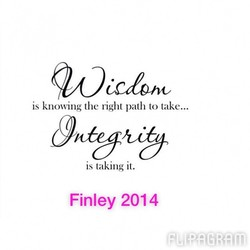 is knowing the right path to take... 