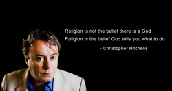 Religion is not the belief there is a God 