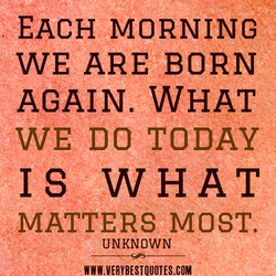 EACH MORNING 