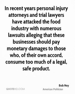In recent years personal injury 