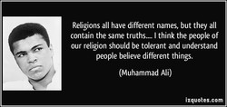 Religions all have different names, but they all 