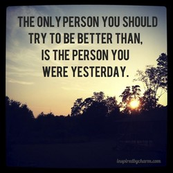 THE ONLY PERSON YOU SHOULD 
