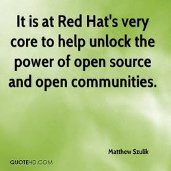 It is at Red Hat's very 