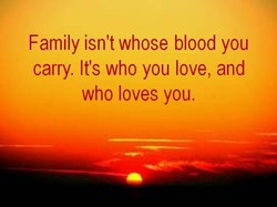 Family isn't whose blood you 