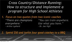 Cross Country/Distance Running: 