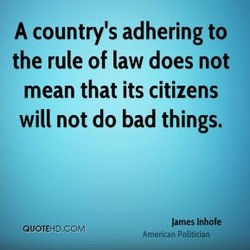 A country's adhering to 