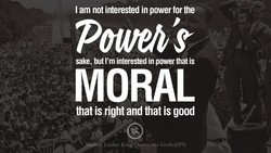 I am not interested in power for the 