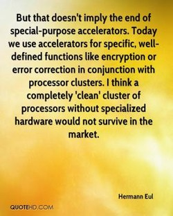 But that doesn't imply the end of 