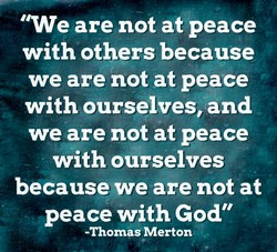 ' 'We are not at peace 