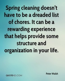 Spring cleaning doesn't 