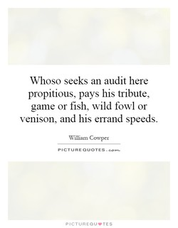 Whoso seeks an audit here 